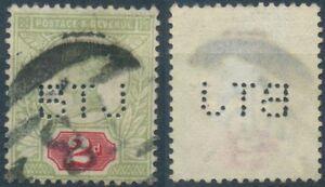 Gran Bretagna, MER. n. 88 timbrato, Regina Vittoria, 2 pence, Two Pence