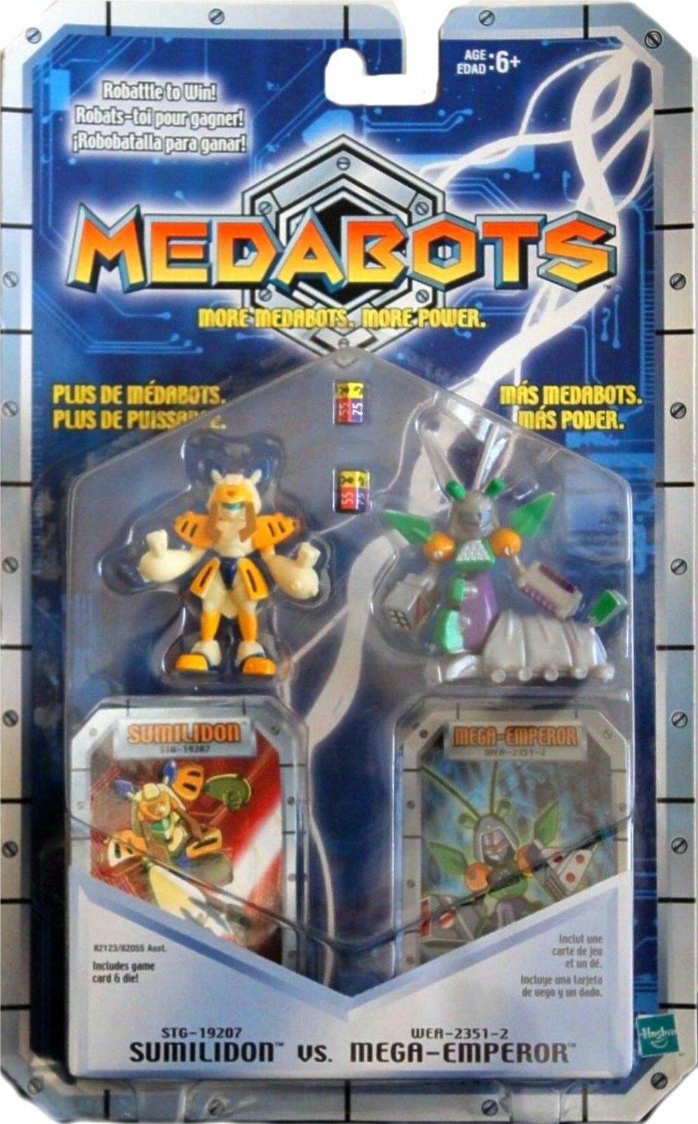 Medabots 2  Sumilidon VS Mega-Emperor Nuovo Factory Sealed Hasbro Medarot 1997