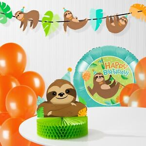 Details About Sloth Birthday Decorations Kit