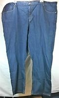 NEW NWT Men's Denim Blue Jeans Big Tall 50x30 Relaxed Fit 100% Cotton 5 Pocket