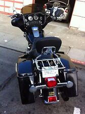 Detachable Backrest Sissy Bar and Luggage Rack w/ Lock for Harley Touring 97-08
