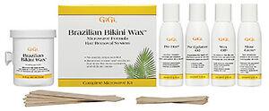 GiGi Brazilian Bikini Wax Microwave Formula Sensitive Body Hair Removal Kit 0911