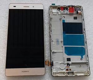 Pantalla-LCD-Unidad-Aviso-Pantalla-Tactil-Cristal-Oro-con-Marcos-Huawei-P8-Lite