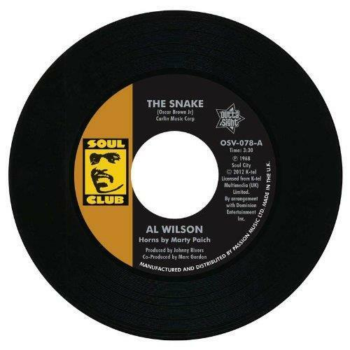 """AL WILSON The Snake / Show And Tell NEW NORTHERN SOUL 45 (OUTTA SIGHT) 7"""" Vinyl"""
