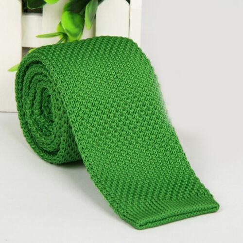 Men/'s Fashion Solid Woven Knitted Knit Tie Necktie Tie Narrow Slim Skinny New