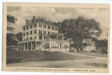 Pigeon Cove Ma Mass G.P. Chick's Ocean View Hotel Cottages Vintage Postcard