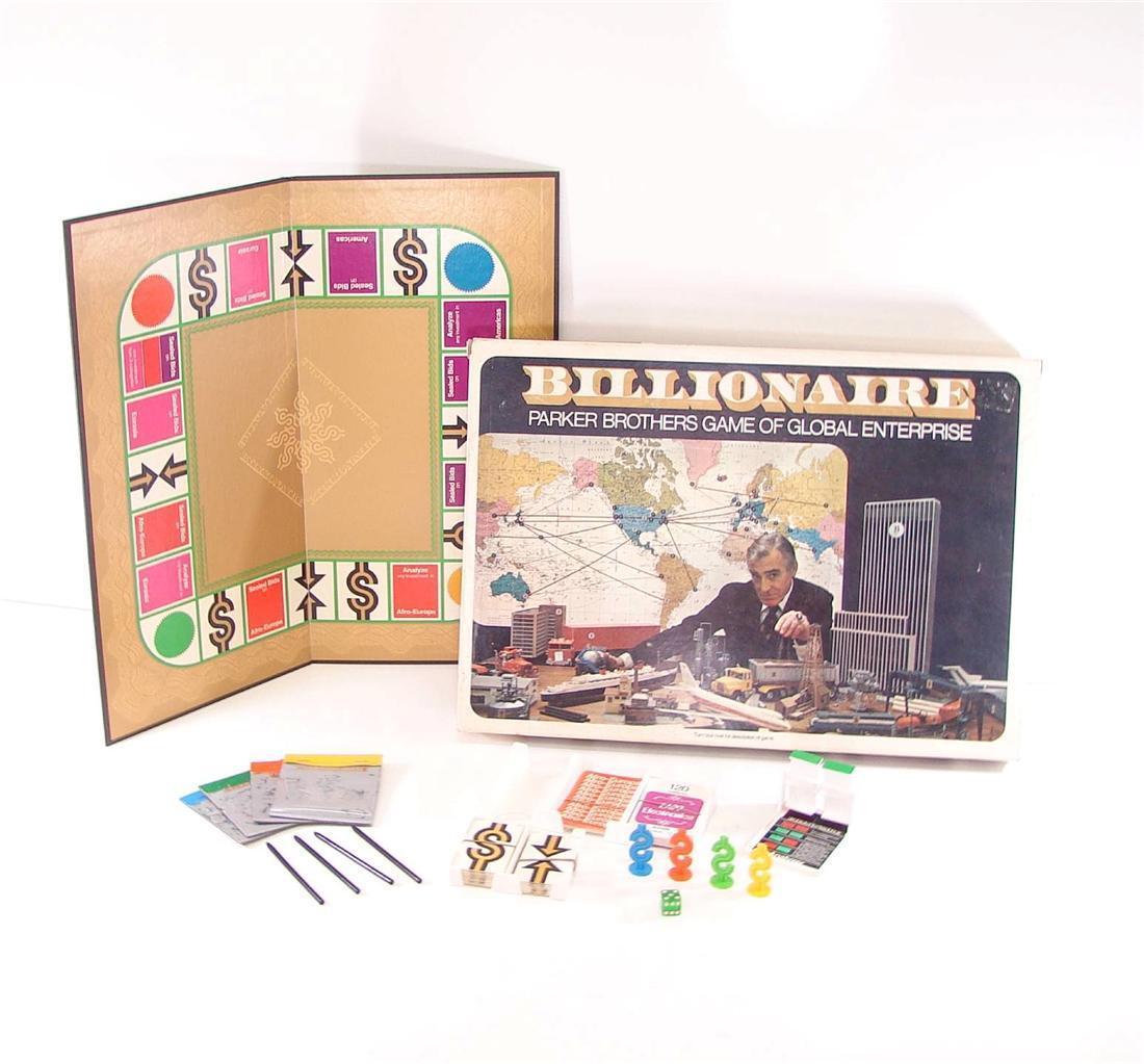 1973  BILLIONAIRE PARKER BROTHERS GAME OF GLOBAL ENTERPRISE MONEY WORLD