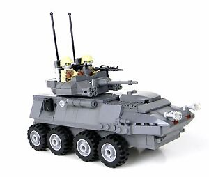 Details about Custom Gray LAV 25 Marine Military Armored Vehicle made with  real LEGO® bricks