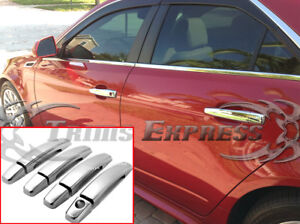 2008-2013-Cadillac-CTS-04-09-SRX-05-07-STS-4-Door-Chrome-Handle-Covers-no-PSKH