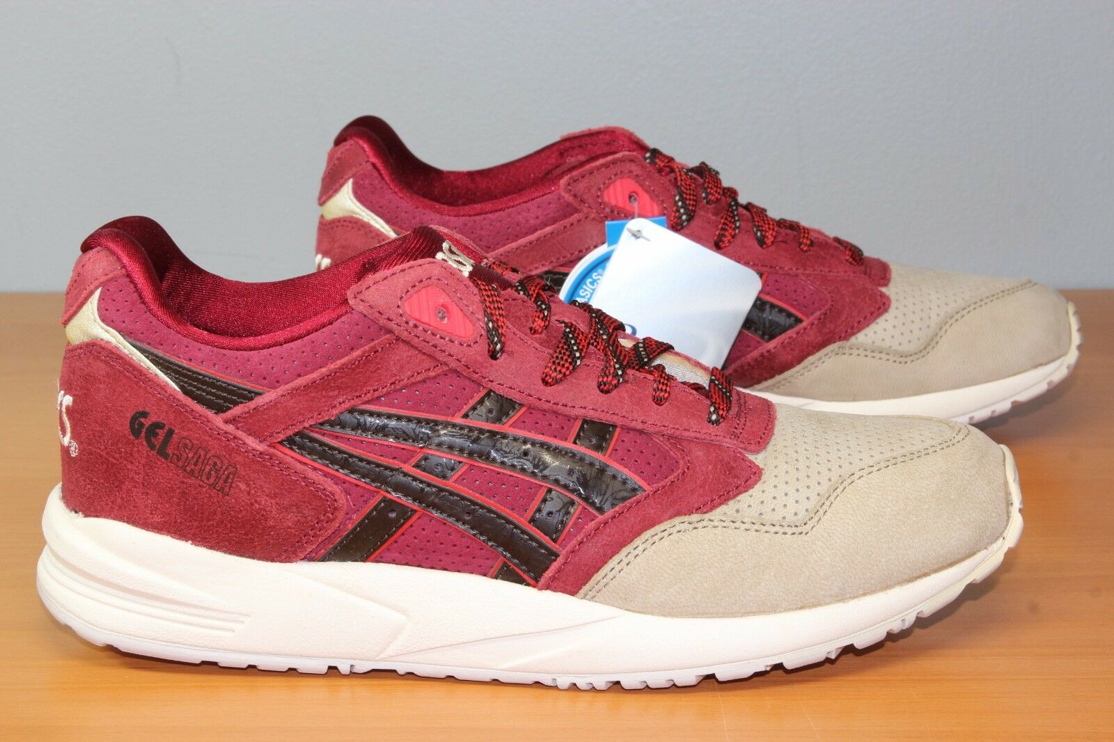 ASICS GEL SAGA Burgundy Dark Brown Lyte III H41VK 2628 Mens 7 9