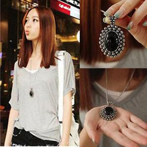 Fashion-Charm-Jewelry-Crystal-Choker-Chunky-Statement-Bib-Pendant-Chain-Necklace