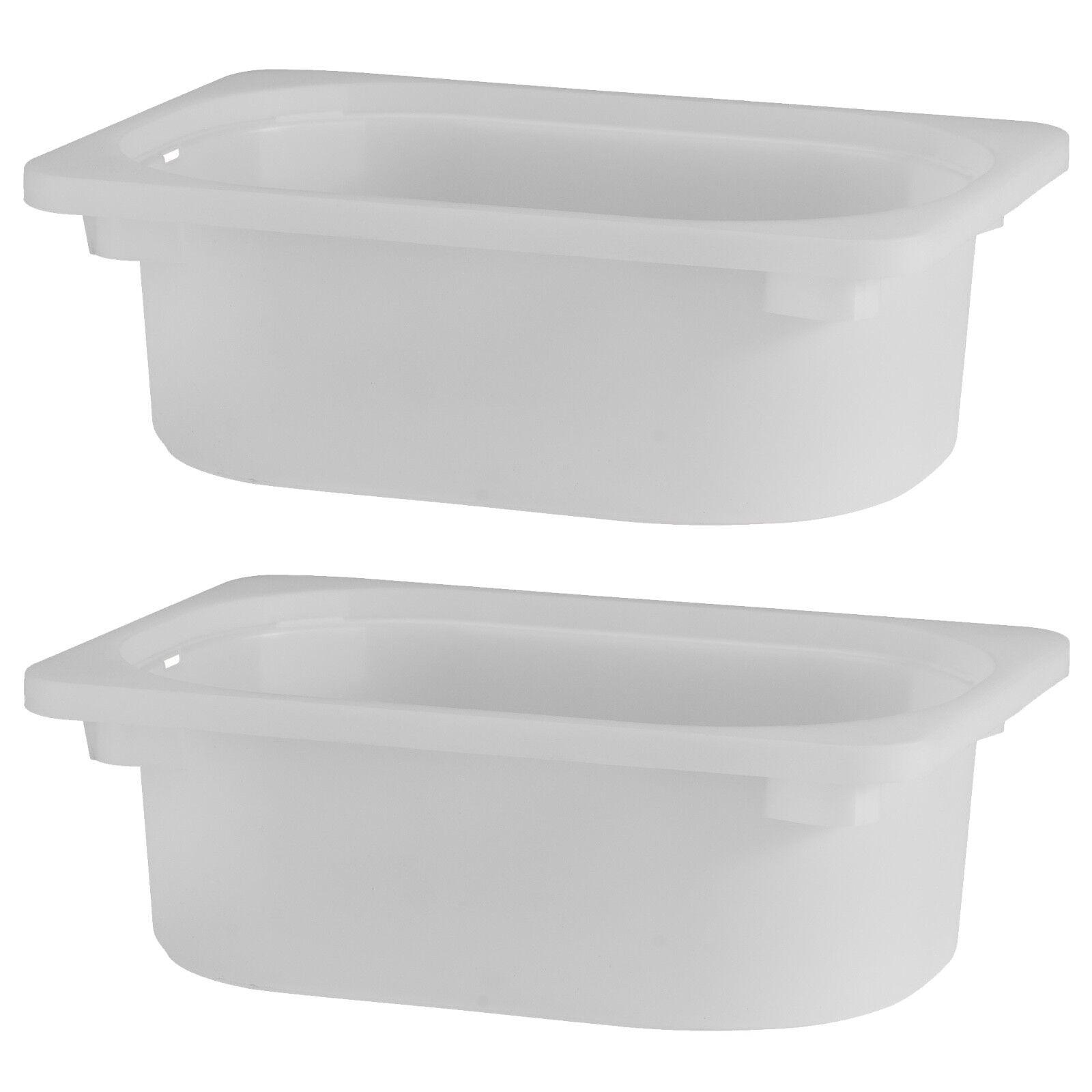 2 x IKEA TROFAST White Plastic Storage Boxes (20x30x10cm) | eBay