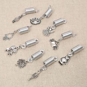 Women-Dreadlock-Hair-Beads-Spiral-Spring-Braid-Hair-Accessories-Jewelry-5pcs
