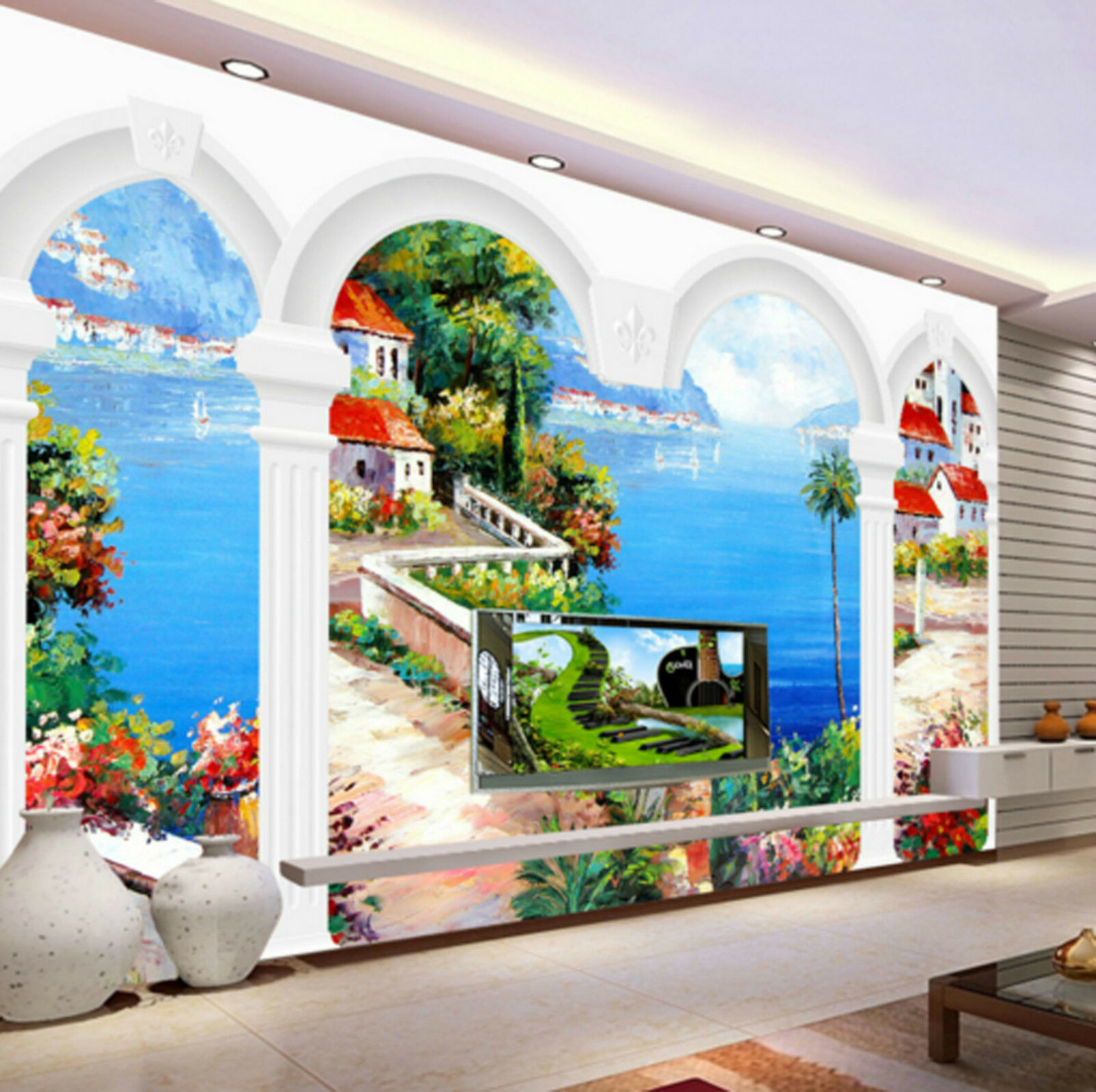 3D House Forest Sea 436 Wall Paper Wall Print Decal Wall AJ WALLPAPER CA