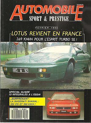 Automobile Sport & Prestige 11 Maserati Shamal Lotus Esprit Turbo Se Bmw Z1 735i