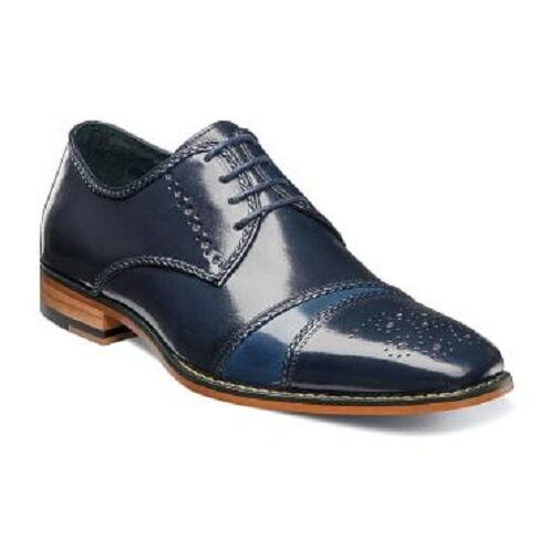 Stacy Adams Talbot Zapatos Oxford Azul marino Multi Cuero 25125-492