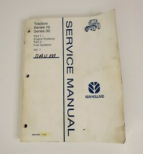 New-Holland-10-amp-30-Series-Tractor-Service-Manual-Vol-1-Part-1-amp-2-1995