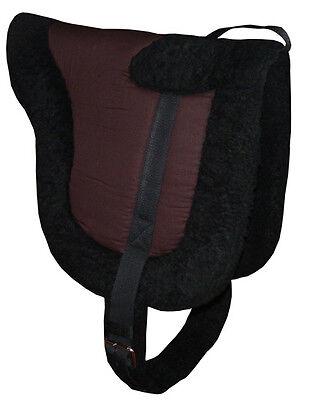 USED Dark Brown Fleece BAREBACK SADDLE PAD Riding Treeless Natural Horsemanship