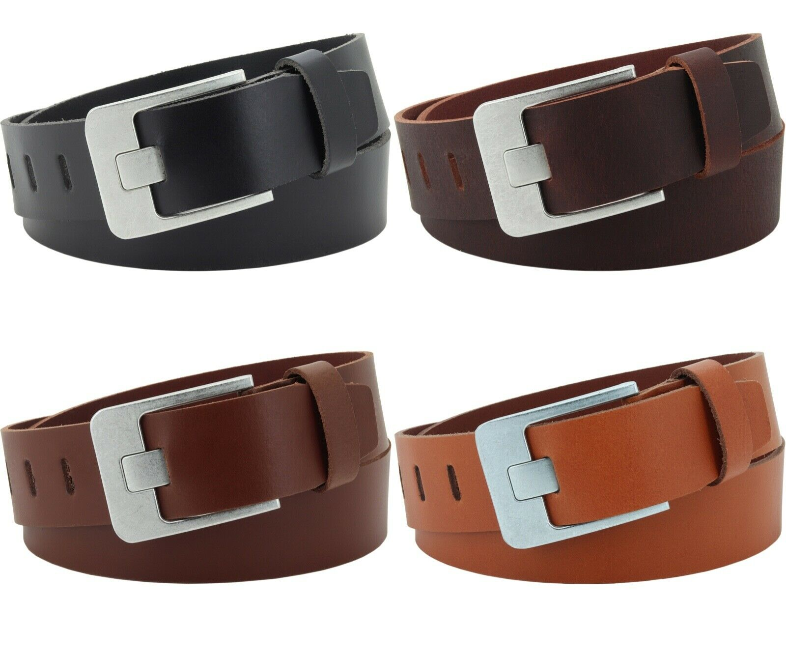 Ledergürtel Herren Damen 3,5 cm echt Leder Gürtel Hosen Belt Jeans Vascavi Nr.17