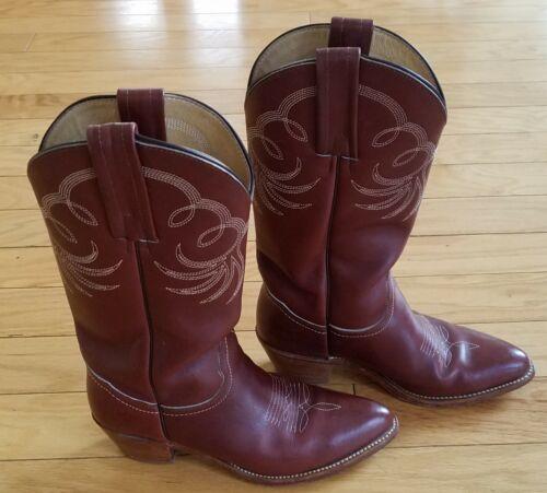 Vintage Oxblood Frye Boots Foldover Cone Heel 6M
