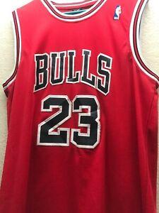 1a4ad001c18 Michael Jordan Nike NBA Swingman Jersey Men's Red Bulls Rare L 50 ...