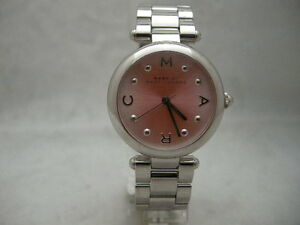 SALE-Authentic-Marc-Jacobs-MJ3447-Stainless-Steel-Medium-Pink-Dial-Women-039-s-Watch