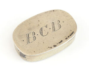 R Blackinton Sterling Silver Oval Pill Box Gold Wash