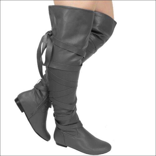 Overknee Stiefel Damen Stiefel 635 Grau Langschaft Schuhe Damen Boots