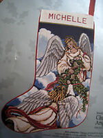 Holiday Candamar Needlepoint Stocking Craft Kit,christmas Angels,30600,size 17