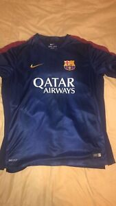 Details about Nike FC Barcelona 201617 Home Soccer Jersey Replica Men's XL