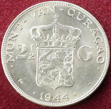 Netherlands 2 and a Half Gulden 1944 (C0501)