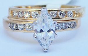 14K-GOLD-EP-2-9CT-DIAMOND-SIMULATED-MARQUISE-ENGAGEMENT-RING-sz-5-12-you-choose