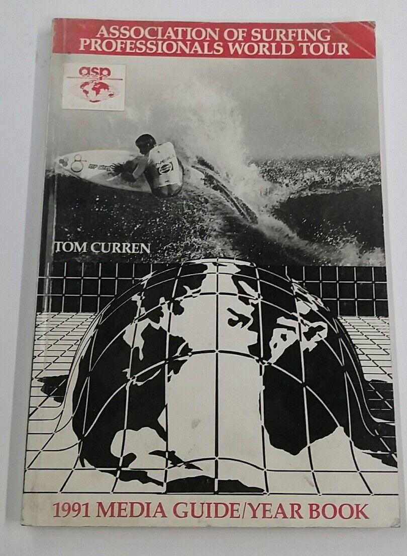 Vintage 1991 guía de medios Tour mundial de surf ASP