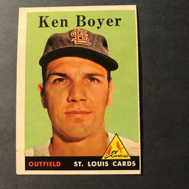 Ken Boyer, 1958 Topps #350 Baseball Card, ST. Louis Cardinals