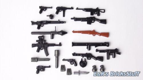 Achse vs BrickArms WW2 Waffen Set Alliierte Custom Waffen für LEGO® Figuren