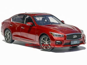 1:18 Pudi Model 2014 Infiniti Q50 Berline Rouge Métallisé