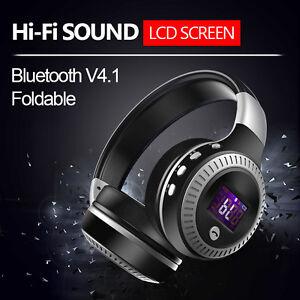 Zealot B19 Review Digital Display Aux Wireless Bluetooth Headset Headphone Ebay