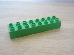 rot Lego Duplo 2 x 4-8er Noppen 10 Bausteine Steine