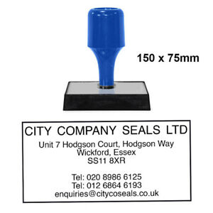 Image Is Loading Personalised Company Stamp 150x75mm Business Address Corporate Stationary