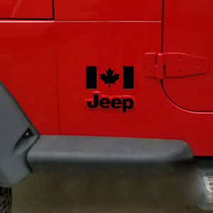 Pair-of-Canadian-Flag-Decals-For-Jeep-car-or-truck-fenders-windows-doors-Canada