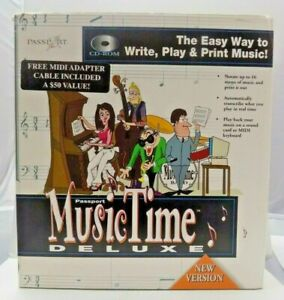 Passport-Music-Time-Deluxe-1996-CD-Rom-for-Windows-3-1-and-95-Rare-Complete