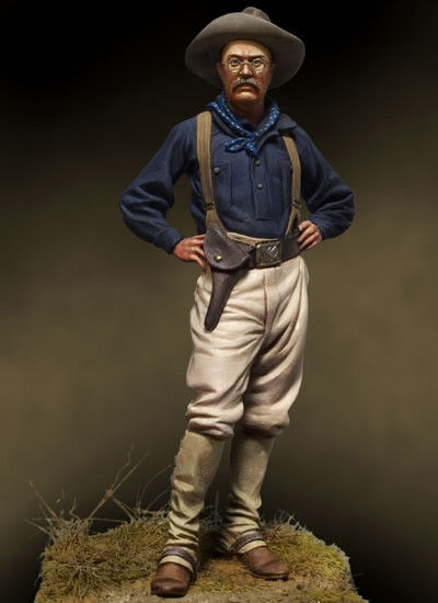 Andrea Miniatures Theodore Teddy Roosevelt Rough Rider 54mm Unpainted kit