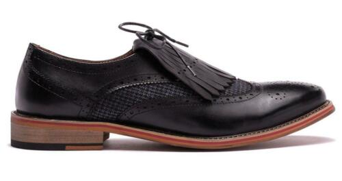 New in Box-$349 Vintage Foundry The Kenyte Kiltie Black Leather Oxford Size 10