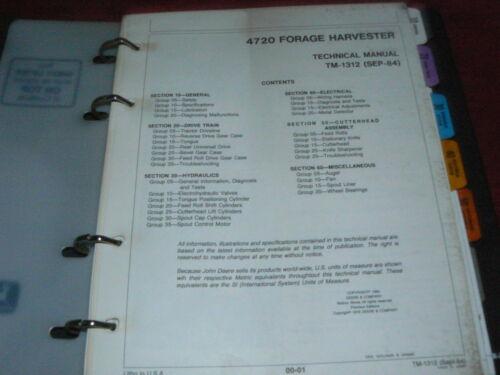 John Deere 4720 Forage Harvester Dealer/'s Service Manual
