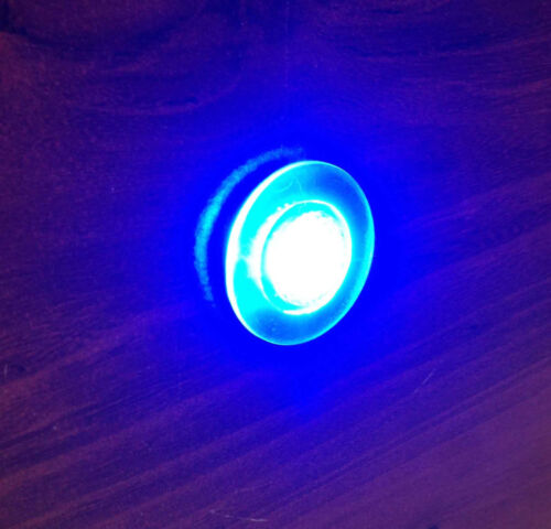 Pactrade 2 Pieces Boat LED Livewell Round Blue Courtesy Light OEM Waterproof