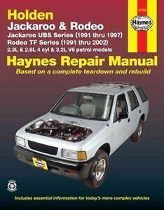 holden rodeo 2wd 4wd tf petrol workshop repair manual 1991 2002 rh ebay com au Manual Book Chilton Repair Manual