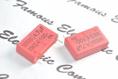 2pcs - WIMA MKS4 4.7uF (4,7µF) 100V 5% pitch:27.5mm Capacitor
