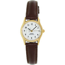 Casio LTP1094Q-7B9 Ladies Casual Analog Watch Leather Band Gold Case ** DOLPHINS