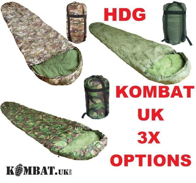 KOMBAT UK BRITISH ARMY STYLE MUMMY SLEEPING BAG OG DPM CAMO MTP BTP CADET TA