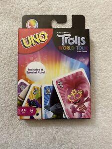Uno-Trolls-World-Tour-Pelicula-Edicion-Limitada-De-Juego-De-Cartas-Mattel-Mojang-Nuevo-Sellado